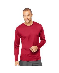 Hanes Cool Dri Performance Long Sleeve Tee - Deep Red