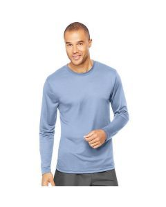 Hanes Cool Dri Performance Long Sleeve Tee - Light Blue