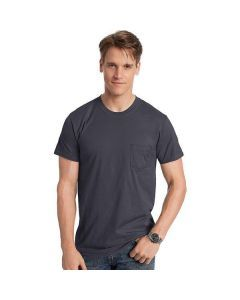 Hanes Mens Nano-T Pocket T-Shirt