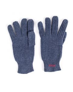 Italian Air Force Blue Knit Wool Gloves