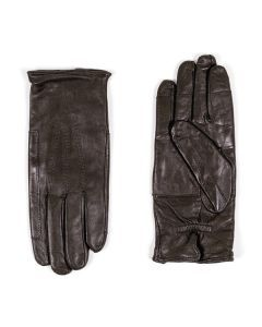 Italian Army Black Leather Gloves