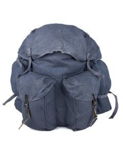 Italian Army Blue Canvas Rucksack