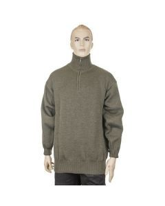 Italian Army Wool Zip Sweater