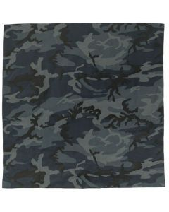 Large Camo Bandana - Midnight Blue Camo