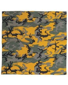 Large Camo Bandana - Stinger Yellow Camo