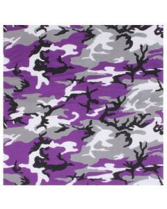 Large Camo Bandana - Ultra Violet Camo
