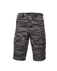 Long Length Camo BDU Shorts - Tiger Stripe