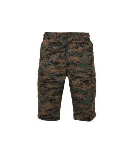 Long Length Camo BDU Shorts - Woodland Digital