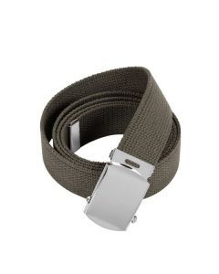 Military Web Belt - Chrome Buckle