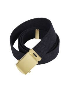 Military Web Belt - Gold Buckle
