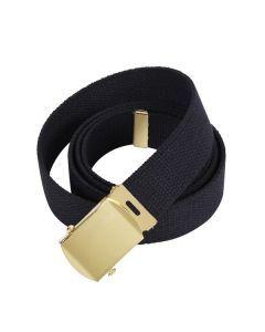 Military Web Belt - Gold Buckle