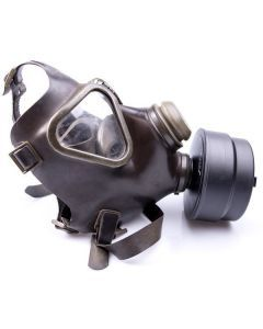 German Drager M65 Gas Mask with Filter - Side View without Model