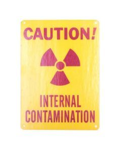Radiation Warning Sign - Internal Contamination