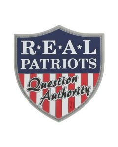 Real Patriots Question Authority Morale Patch