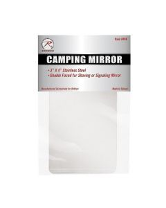 Rotcho Camping Mirror - Double Sided for Shaving or Signaling - 498