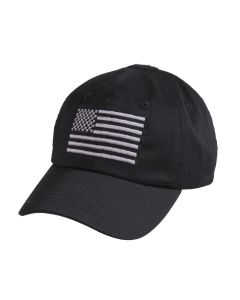Rothco Tactical Operator Cap With US Flag - Black