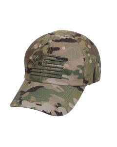 Rothco Tactical Operator Cap with US Flag - Multicam