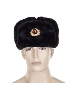 Russian Winter Hat - Russian Ushanka - Black