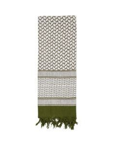 Shemagh Desert Scarf - Olive Drab / White