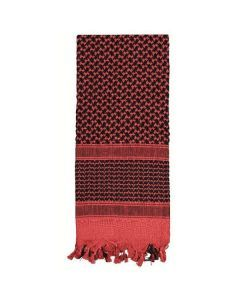 Shemagh Desert Scarf - Red / Black