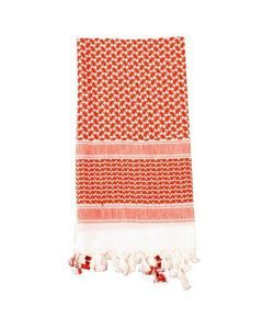 Shemagh Desert Scarf - Red / White