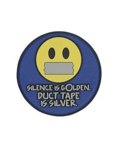 Silence is Golden Duct Tape is Silver Morale Patch