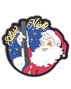 Silent Night Santa with a Gun Patch