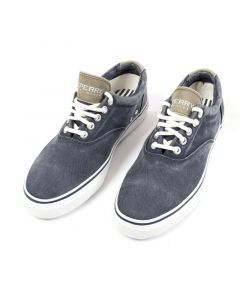 Sperry Top-Sider Striper Navy Boat Shoes