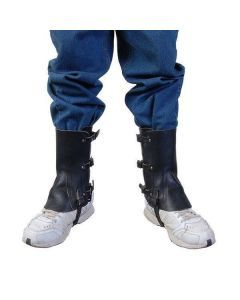 Swiss Black Leather Gaiters