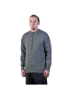 Swiss Heavy Wool Sweater with Zipper