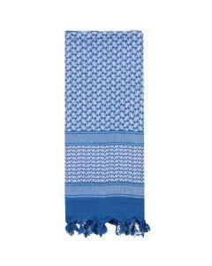 Shemagh Desert Scarf - Blue / White