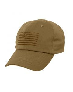 Tactical Operator Cap with US Flag - Coyote Brown