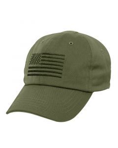 Tactical Operator Cap with US Flag - OD Green