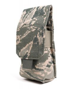 US Air Force ABU Tiger Stripe M4 2-Mag Molle Pouch - Quick Release