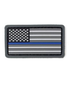 US Flag Thin Blue Line Mini PVC Patch
