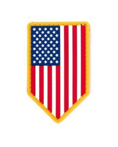 US Flag Vertical Shield PVC Morale Patch