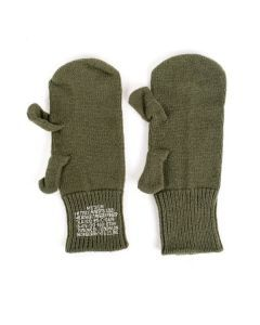 US Military Wool Trigger Finger Mitten Liners
