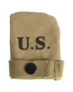 US WWII Canvas Muzzle Cover - Fits M1 Garand, M1 Carbine, and Springfield 1903 Rifles