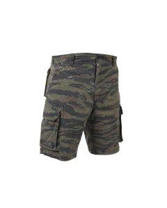 Vintage Paratrooper Camo Cargo Shorts - Tiger Stripe