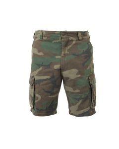 Vintage Paratrooper Camo Cargo Shorts