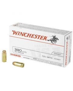 Winchester USA 380 ACP 50 Rounds | 95Gr | Full Metal Jacket | Q4206