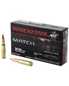 Winchester Match 308 Winchester 20 Rounds | 168Gr | Sierra BTHP | S308M