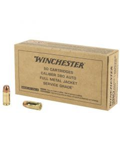 Winchester Service Grade 380 ACP 50 Rounds | 95Gr | Full Metal Jacket | SG380W