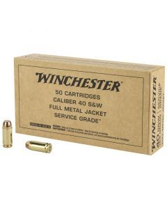 Winchester Service Grade 40 S&W 50 Rounds | 165Gr | Full Metal Jacket | SG40W