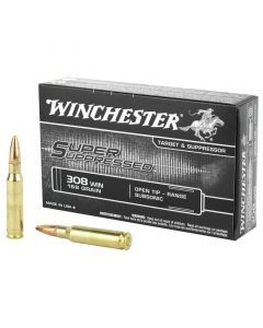 Winchester Super Suppressed 308 Winchester 20 Rounds | 168Gr | Open Tip | SUP308