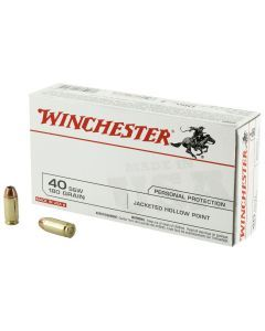 Winchester 40SW 180gr JHP Ammo