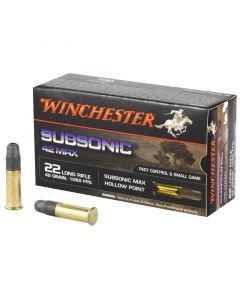 Winchester MAX 22 LR 50 Rounds | 42Gr | Subsonic | W22SUB42U