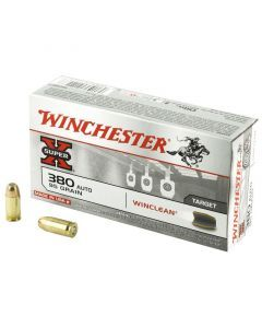Winchester Super-X WinClean 380 ACP 50 Rounds | 95Gr | Brass Enclosed Base | WC3801
