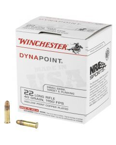 Winchester Dynapoint 22 LR 500 Rounds | 40Gr | Hollow Point | WD22LRB