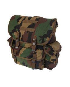NATO Style Rucksack - Woodland Camo